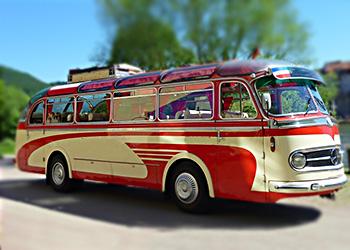 Setra Oldtimer Bus in Köln