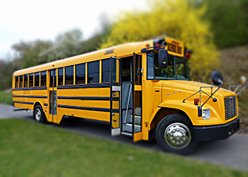 Ein US-Schulbus